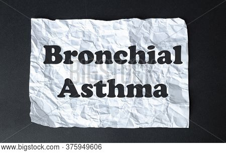Black Calculator With Text Bronchial Asthma On The White Background