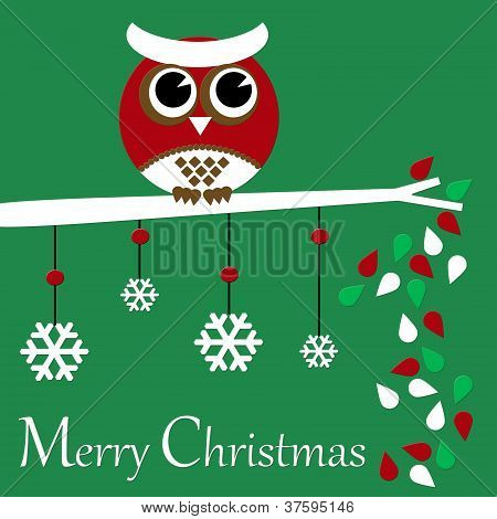 Merry Christmas Owl Collection, One in a series of many! poster