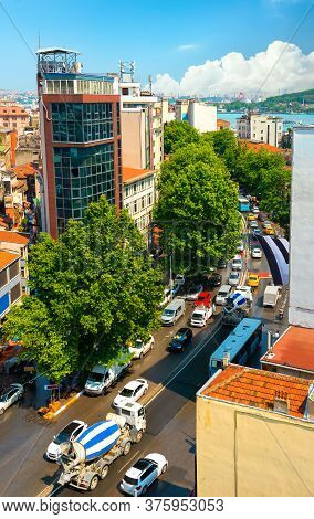 Street View Of Istanbul, In A Summer Day
