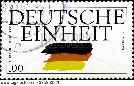 02 11 2020 Divnoe Stavropol Krai Russia The Postage Stamp Germany 1990 The Reunification Of Germany