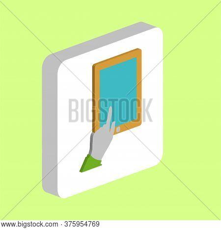 Finger Click Tablet Simple Vector Icon. Illustration Symbol Design Template For Web Mobile Ui Elemen