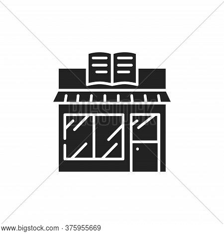 Bookstore Black Glyph Icon. A Store That Sells Books, And Where People Can Buy Them. Pictogram For W