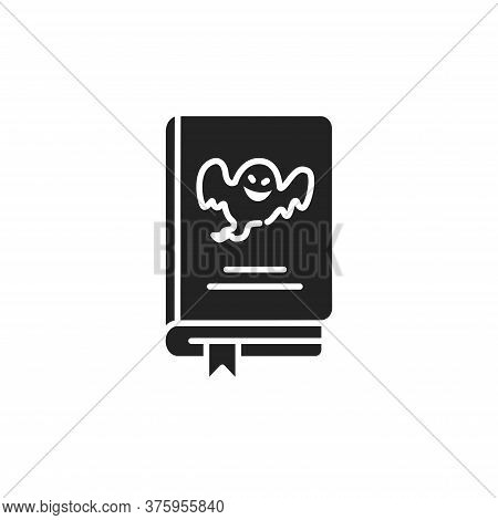 Horror Book Black Glyph Icon. A Genre Of Speculative Fiction Which Is Intended To Scare. Pictogram F