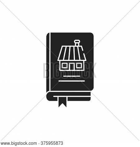 Household Book Black Glyph Icon. Guide How To Run A Household. Domestic Advice And Ideas. Popular Am