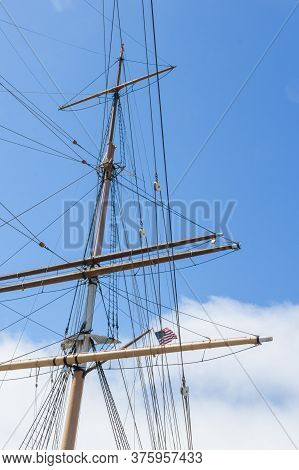 Masts And Lines From An Old Medieval Sailingship