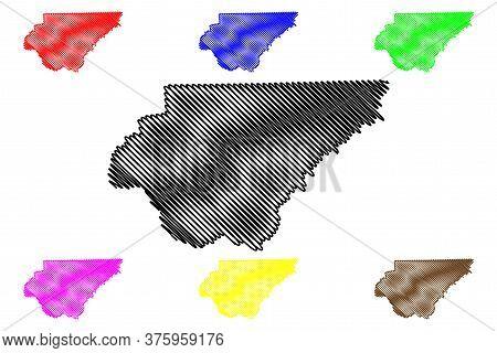Rabun County, Georgia (u.s. County, United States Of America,usa, U.s., Us) Map Vector Illustration,