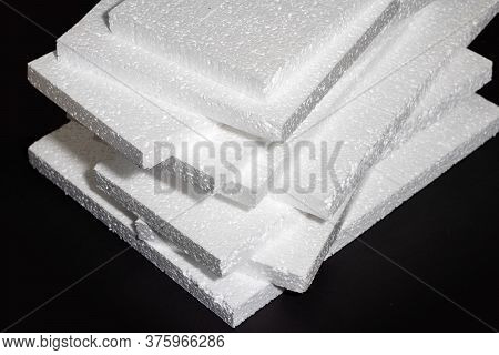 Styrofoam. Sheets Of Factory Manufacturing.