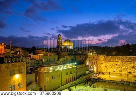 The Western Wall And Dome Of The Rock, Jerusalem