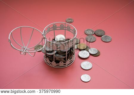 The Door Of The Birdcage Is Open. The Money Broke Free. The Concept Of Investing Money. The Concept