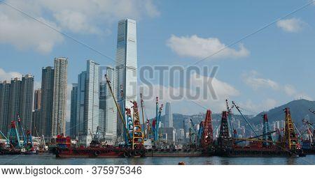 Kowloon West, Hong Kong 19 May 2020: Hong Kong city