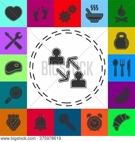 Coworking Concept Line Icon. Simple Element Illustration. Coworking Concept Outline Symbol Design Fr