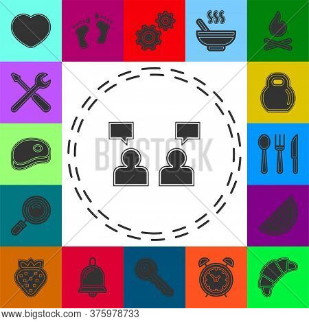 People Management Concept Line Icon. Simple Element Illustration. People Management Concept Outline