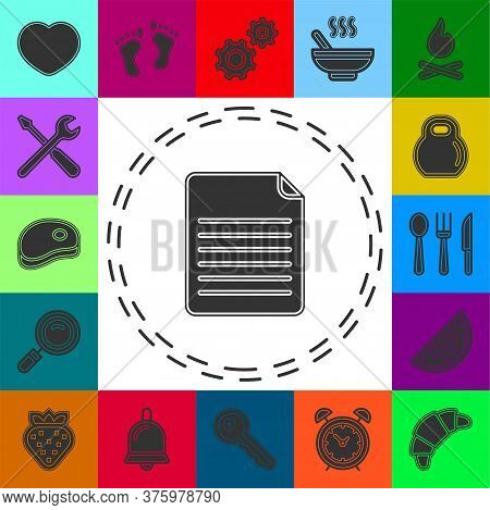 Document Icon. Logo Element Illustration. Document Symbol Design From Collection. Simple Document Co