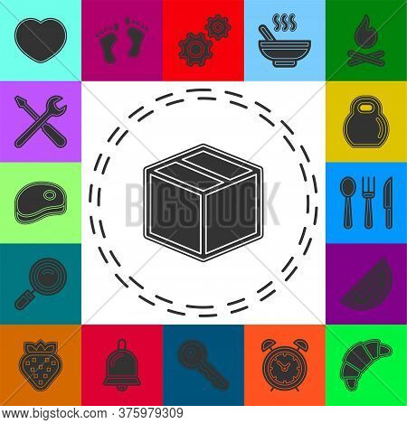 Shipping Box Icon, Vector Shipping Box, Storage Symbol, Vector Cardboard - Packaging Box Illustratio