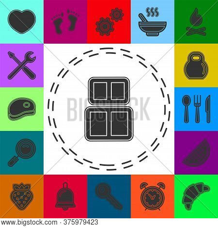 Box Baggage, Luggage Container Line Icon, Outline Vector Sign, Linear Style Pictogram Isolated On Wh