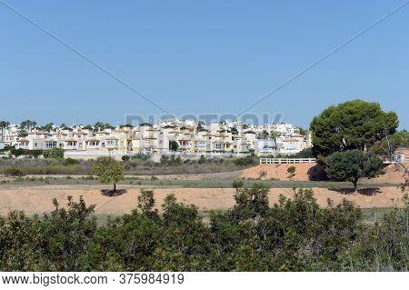 Orihuela, Costa Blanca, Spain - September 21, 2018:residential Residences On The Costa Blanca In Ori