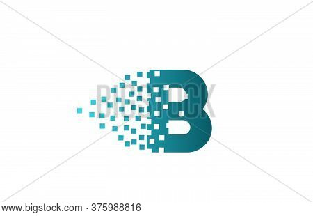 B Alphabet Letter Logo Icon For Company And Business. Creative Design For Corporate Identity