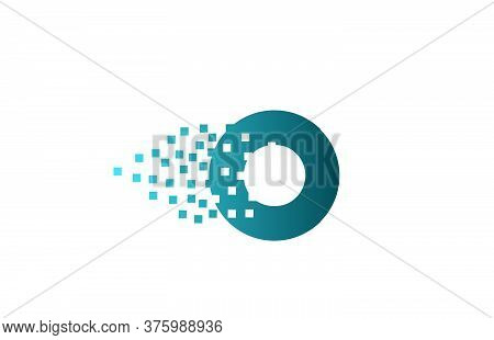 O Alphabet Letter Logo Icon For Company And Business. Creative Design For Corporate Identity
