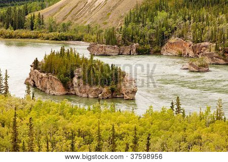 Five Finger Rapids of Yukon River Yukon T Canada