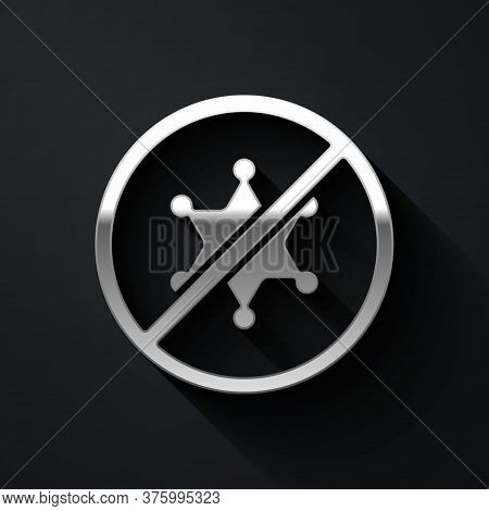 Silver Protest Icon Isolated On Black Background. Meeting, Protester, Picket, Speech, Banner, Protes