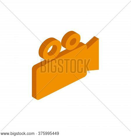 Vector Isometric Camcorder Icon On A White Background