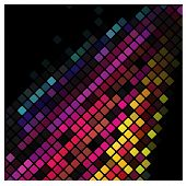 Abstract multicolor lights disco tile background. pattern poster