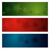 Christmas snowflake banners. More christmas images in my portfolio. poster