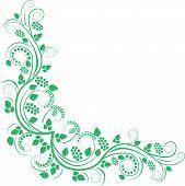 floral decorative corner - clip art illustration poster