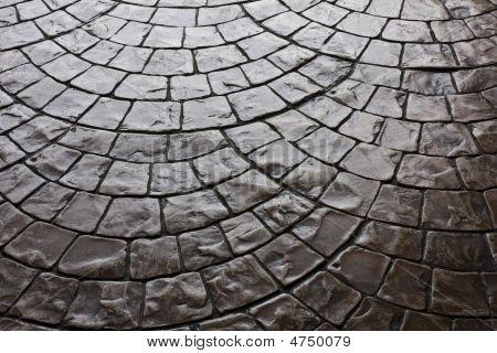 Dark Rustic Floor Paving Stone Pattern