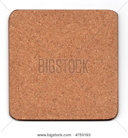 cork mat isolated on white smalll natural shadow underneath poster