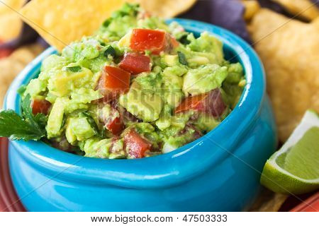 Guacamole Bowl With Chips