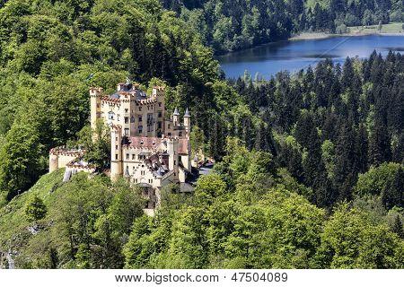 Hohenschwangau Castle Among The Lakes And Greenery