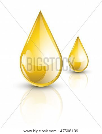 Oil droplets