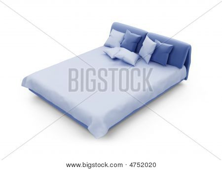 Double Bed Against White