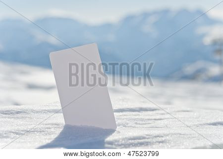 Blank Snow Business Card Ticket