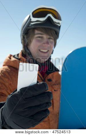 Winter Sport Business Card