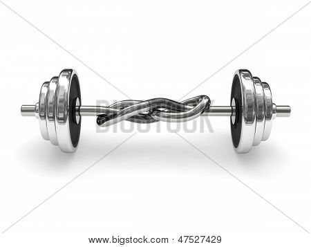 Knotted Weight Barbell (power Concept)