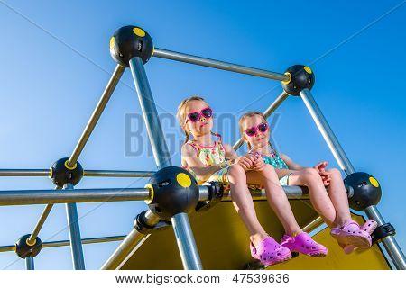 Girls And Jungle Gym