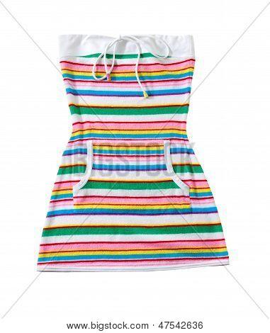 Sailor Stripes Strapless Summer Toweling Mini Dress