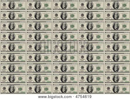 100 Dollar Bills - Money Sheet