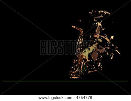 Abstract Brown Sax