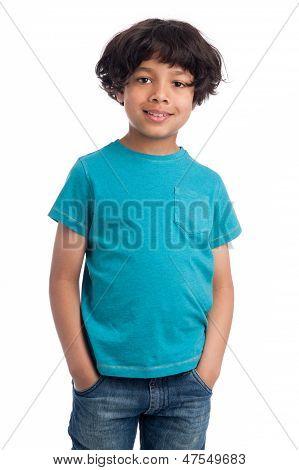 Cute Mixed Race Boy.