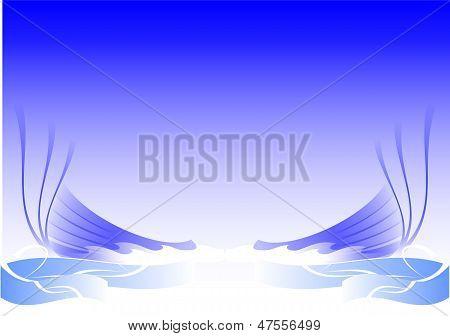 background blue arts