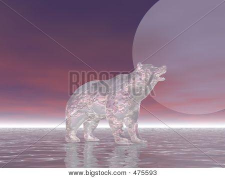 surreal polar bear poster