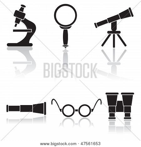 Set of  the magnifiers
