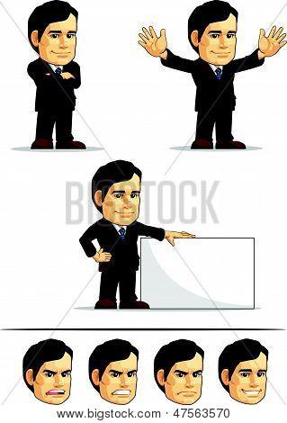 Businessman Or Company Executive Mascot 6