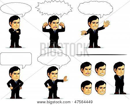 Businessman Or Company Executive Mascot 13