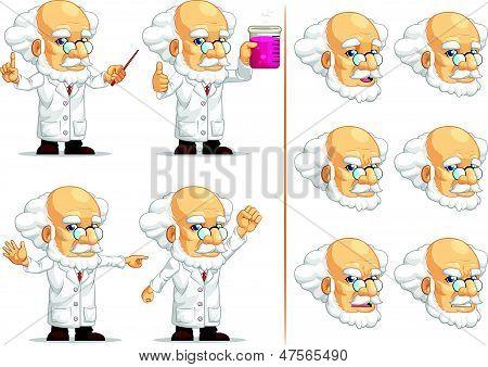 Scientist Or Professor Customizable Mascot 11