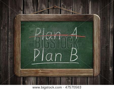 Plan A plan B concept poster