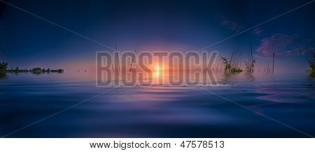 Sunrise On Benbrook Lake